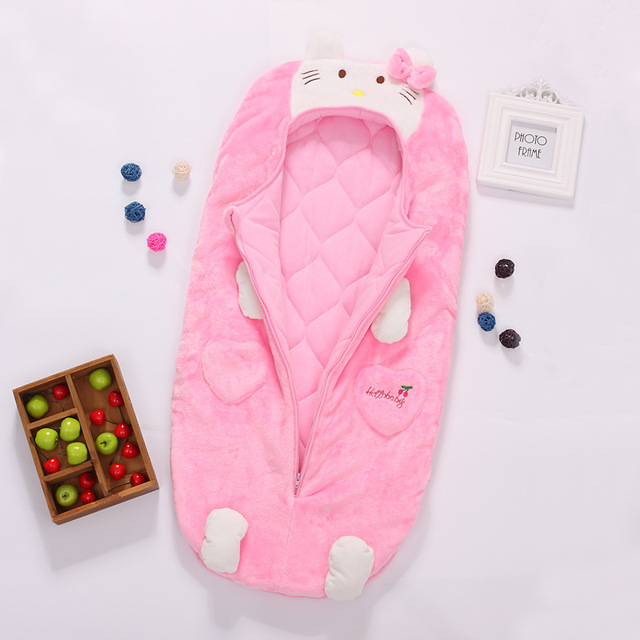 2016 new cute cat  Baby Sleeping Bag  Spring and autumn and winter infant sleeping bag
