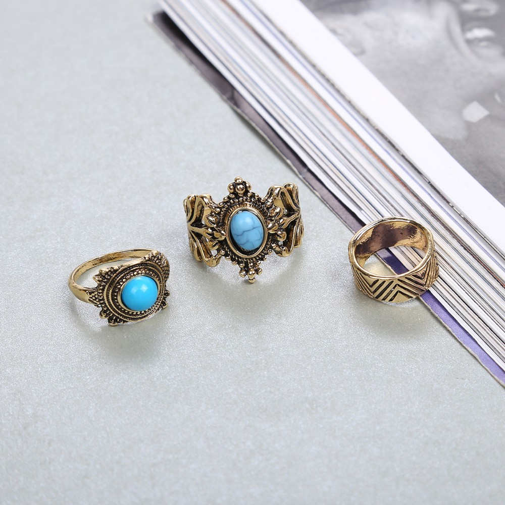 HTB1cAuiMVXXXXaxXVXXq6xXFXXXl Stylish 10-Pieces Retro Boho Spirituality Knuckle Ring Set For Women - 4 Sets