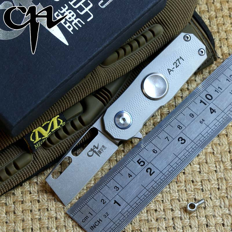 CH finger tip gyro S35VN blade titanium handle tactical ball bearing flipper folding knife outdoor gear camping knives EDC tools edc gear outdoor 6 slot design tool box with blade saw opener bar code sheet s carabiner