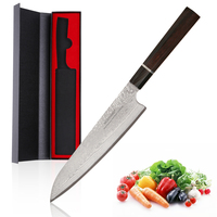 Mokithand Damascus Steel Chef Knife 9 Inch Japanese VG10 Kitchen Knives Professional Japan Steel Fish Meat Knife for Home