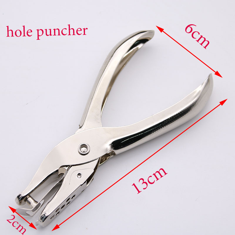 1pc School Office Metal Single Hole Puncher Hand Cut 8 Page Full Metal Material Information Binding Tool School Office Supplies