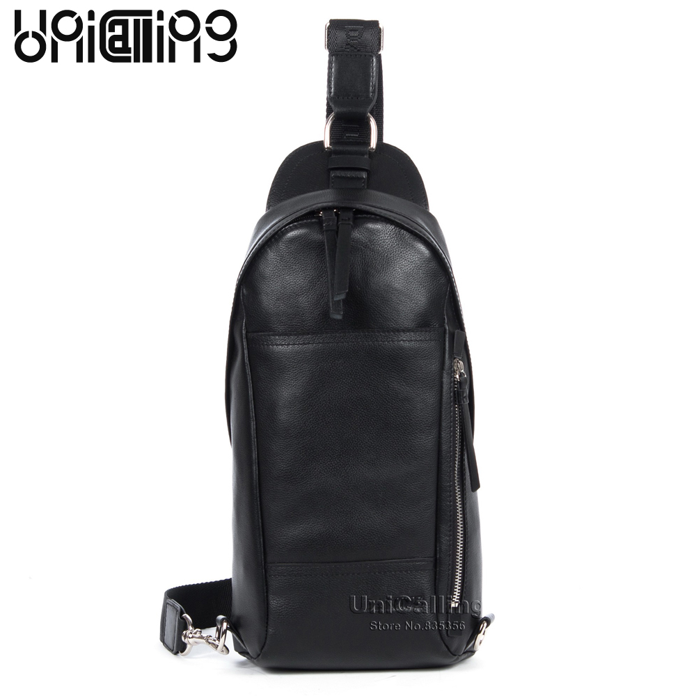 Fashion bag men genuine leather crossbody bag casual trendy vertical baguette chest bag outdoors casual messenger bagFashion bag men genuine leather crossbody bag casual trendy vertical baguette chest bag outdoors casual messenger bag