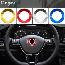 Ceyes Steering Wheel Circle Ring Case For Volkswagen Gti VW R Golf 5 6 Polo Passat Accessories Decoration Stickers Car Styling d ring genuine leather steering wheel cover for custom car volkswagen vw golf 6 golf 7 gti mk7 polo auto steering accessories