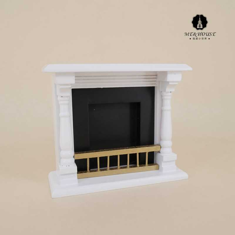 dolls house accessories 1/12 toys mini wood fireplace decoration miniature furniture