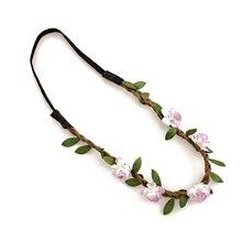 2017 NEW Flower Women Hairband Headband Festival Party Wedding Lavender
