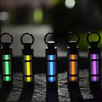 Automatic Light Titanium Alloy tritium keychain Gas Lamp Life Saving Emergency Lights For Outdoor Safety Survival тритий брелок - DISCOUNT ITEM  20 OFF Sports & Entertainment