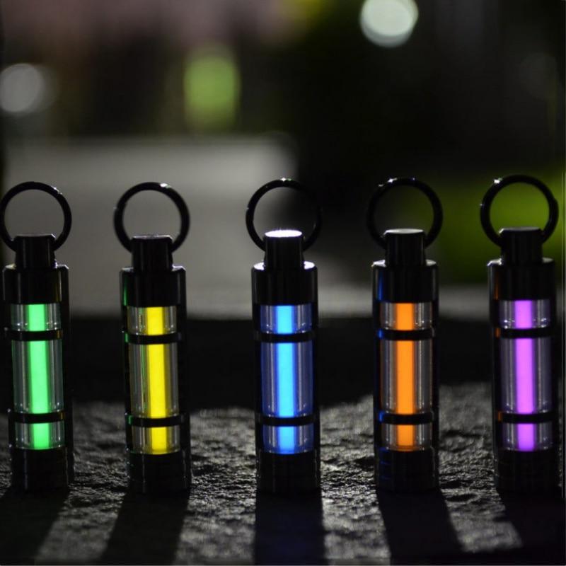 Automatique Léger En Alliage de Titane Tritium Gaz Lampe Porte-clés Lumières Pour En Plein Air Sécurité et Survie de Sauvetage D'urgence