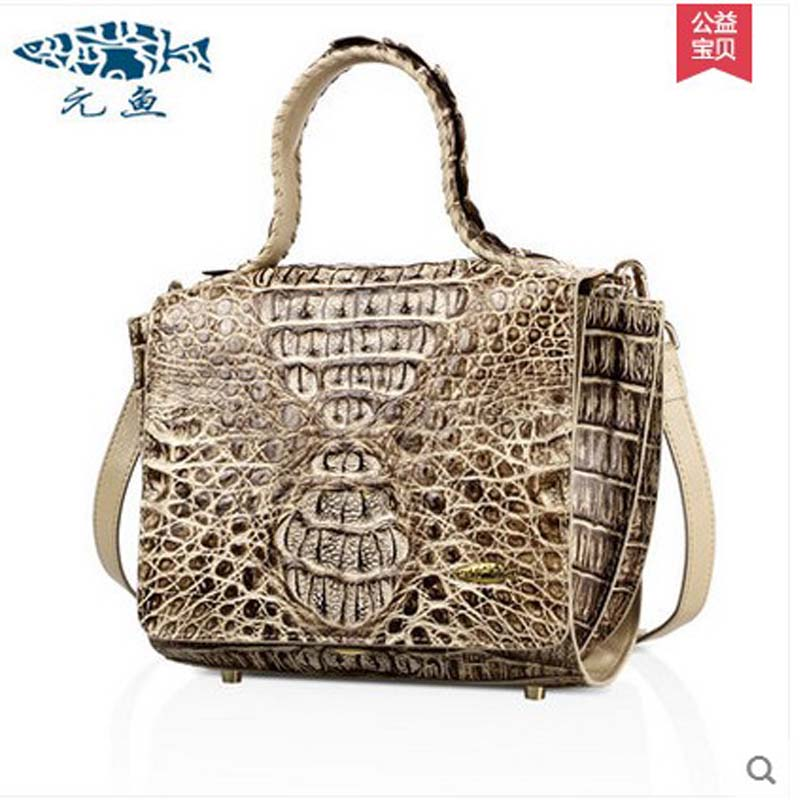 yuanyu 2018 new hot free shipping  women handbag new single shoulder inclined bag authentic Thai crocodile leather  women hanbag yuanyu 2018 new hot free shipping real thai crocodile women handbag female bag lady one shoulder women bag female bag
