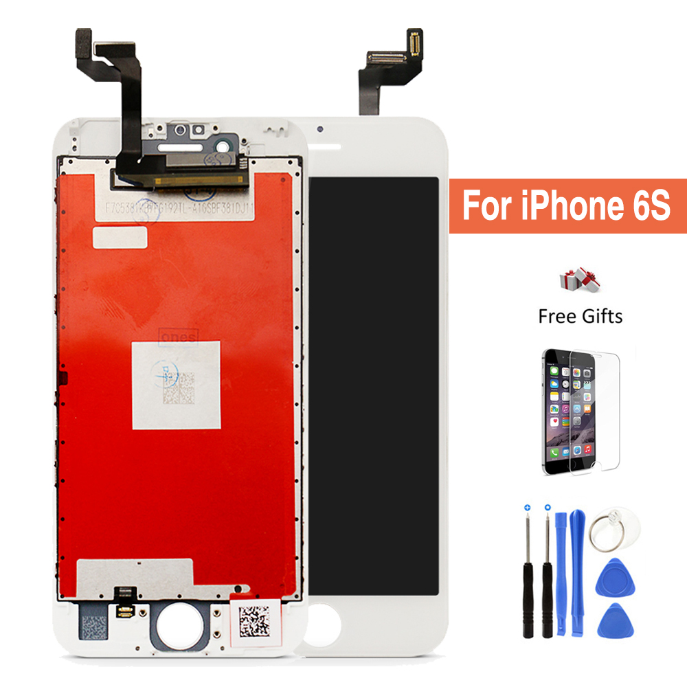 For apple iPhone 6S LCD 3D touch Screen Digitizer Assembly replacement AAA no dead pixel 4.7 Display with install kit tools 5pcs lot aaa free shipping for iphone 6s lcd display touch screen digitizer replacement assembly no dead pixel black