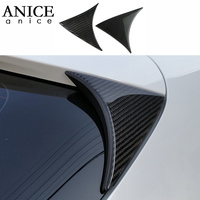 2pc 100% Real Carbon Fiber+PU REAR WINDOW SPOILER SIDE WING COVER trim Fit For Mazda3 Axela M3 2014 2018 hatchback