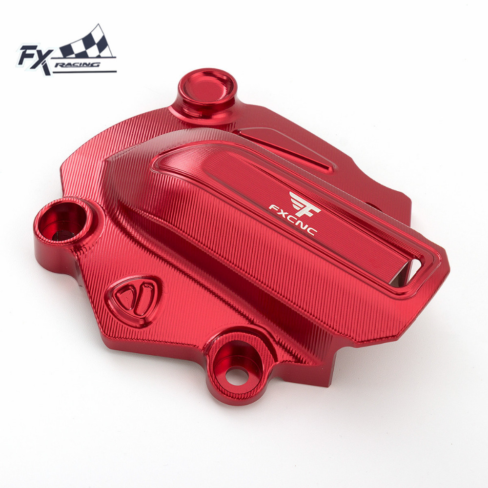 FXCNC Aluminum Motorcycle Water Pump Cover Protector Protection For Ducati Monster 821 2014 - 2016 2015 Motorcycle Accessories