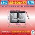 [L547] 3.7V,6000mAH,[4810677] PLIB;Polymer lithium ion / Li-ion battery for tablet pc,cell phone,POWER BANK