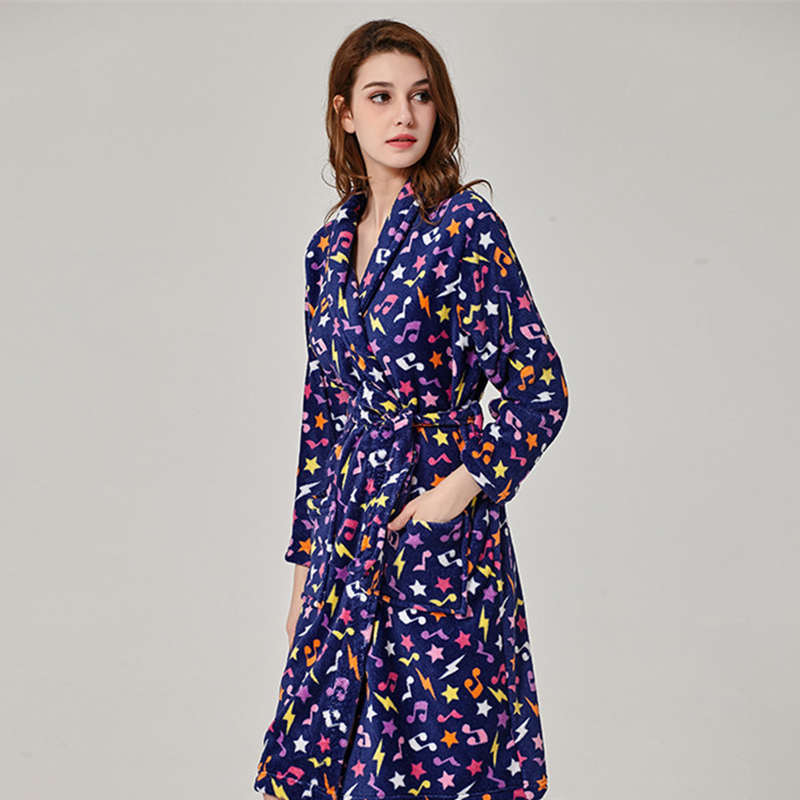 11c67b648a 2018 Soft Warm Coral Fleece Bathrobe Female Autumn Winter Kimono Dressing  Gown Long Sleeve Pyjamas Sets Robe Nightie Night Dress