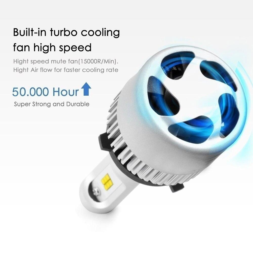 2x H7 светодиодный фар автомобиля свет H1 H4 H7 HB4 9006 HB3 9005 H10 HB2 9003 Canbus Светодиодная Лампочка COB Чип 6500K 8000LM Автомобильные фары