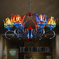 IWHD Tradion гладить Hanglamp Стиль Лофт промышленный подвесной светильник творческий перо 6 головки подвесные светильники приспособление Ретро Lampen
