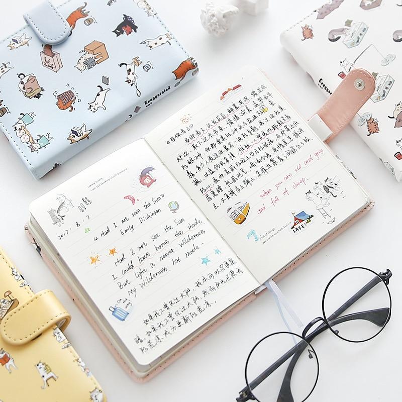 1 Piezas 3274 Cuaderno De Cuero Bonito Manual De Papelería Libro De Notas Limpio Para Estudiante Precio Moderado