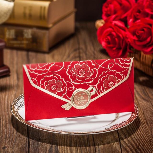 30pcs wedding invitation envelope red envelope for bridal shower
