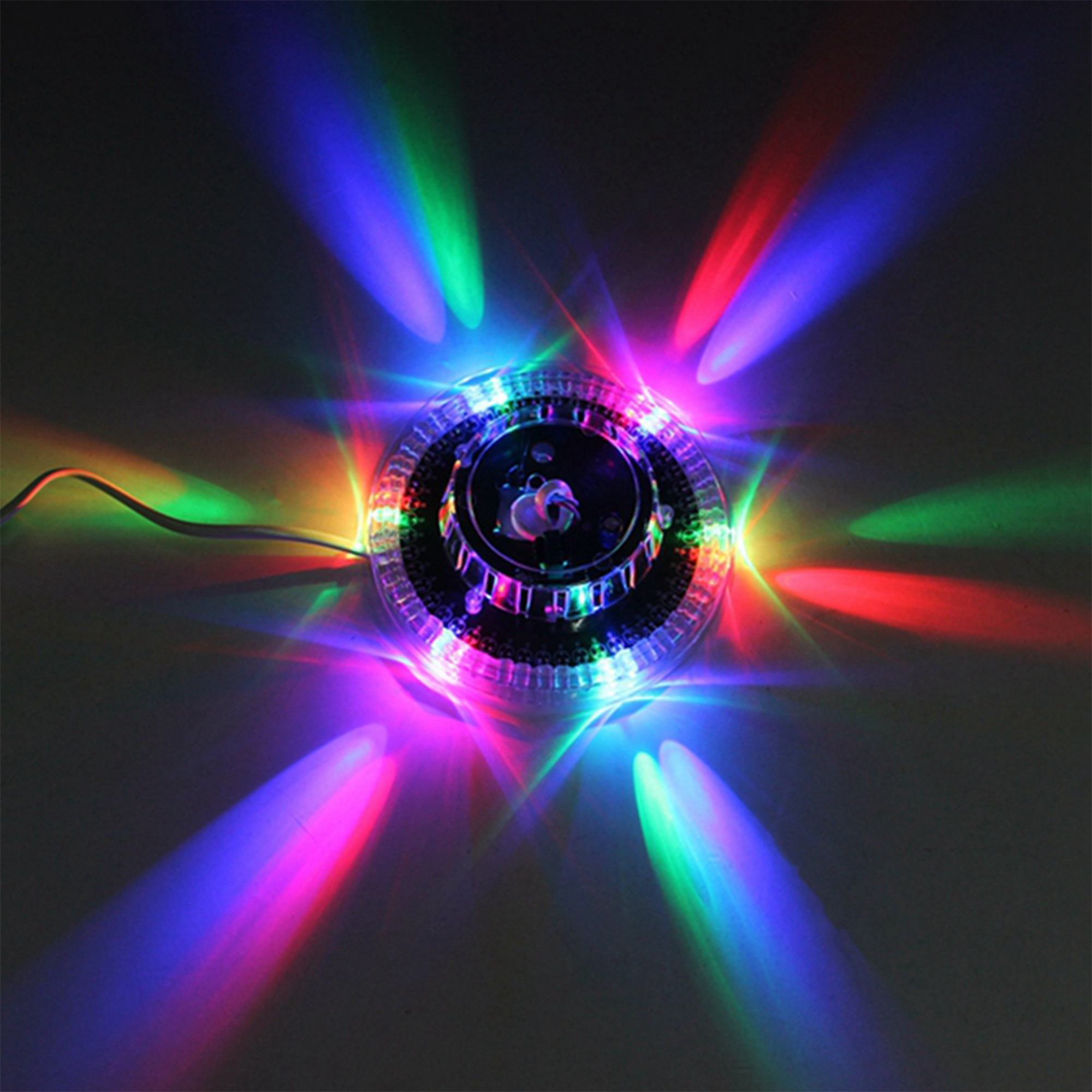 UFO Portable Laser Stage lights 8W rgb 48 leds sound activated Sunflower led lighting wall lamp for KTV DJ Wedding Christmas