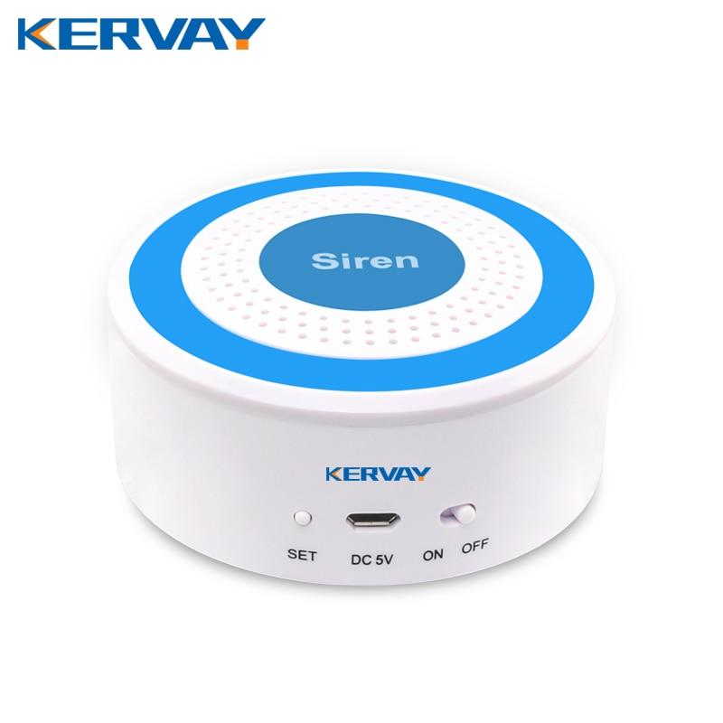 Kervay wireless 433mhz 100dB Alarming Strobe Siren sensor for K-PG103 /K-PG168 wifi Home security alarm host system wireless vibration break breakage glass sensor detector 433mhz for alarm system