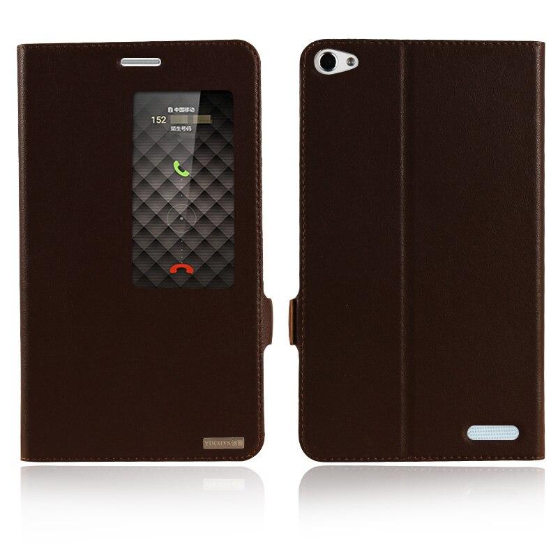 Цена за Окно Smart Cover чехол для Huawei Honor X2 & Медиа Pad X2 7.0 ''натуральная кожа Магнит флип стенд мобильный телефон сумка + Бесплатный подарок