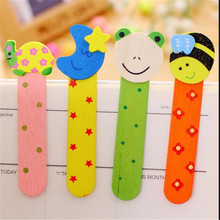 4pcs Wooden cartoon bookmark for book creative bookmarks paper set gift cute primary school prizes children's student supplies