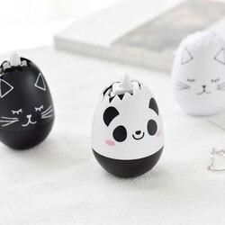 الجدة الكرتون الباندا القط شكل بيضة الصحافة نوع تصحيح الشريط الزخرفية مذكرات القرطاسية مدرسة التموين