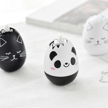Novelty Cartoon Panda Cat Egg Shape Press Type Decorative Correction Tape Diary Stationery School Supply(China)