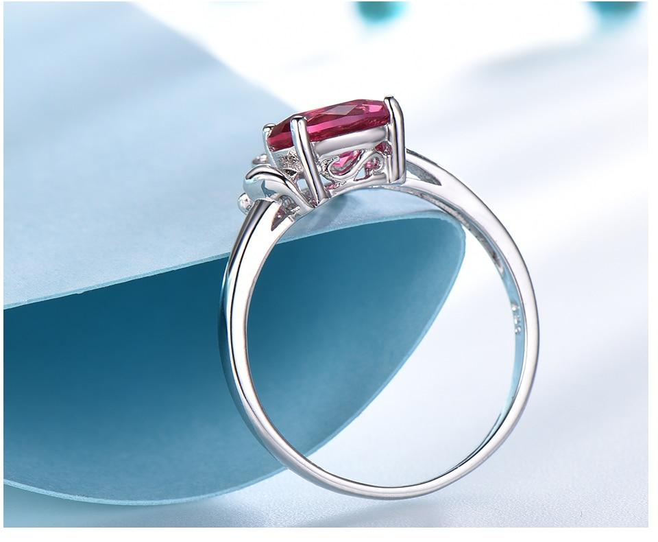 Honyy  Ruby 925 sterling silver rings for women RUJ088R-1-PC (5)