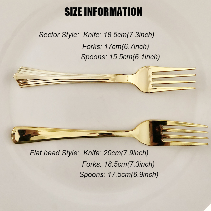 Disposable METALLIC Silver 18 Strong  Plastic Cutlery Set Party NEW CUTLERY SET