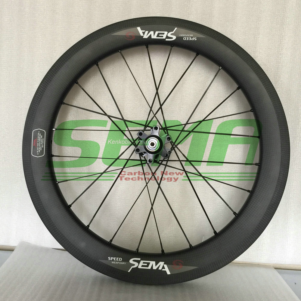 SEMA T700 18inch 355 for birdy wheelset sunrise hub Straight pull bicycle carbon road wheels carbon clincher bicycle parts 1350g 38mm clincher straight pull racing road bike carbon wheels bicycle carbon wheelset for r36 hub