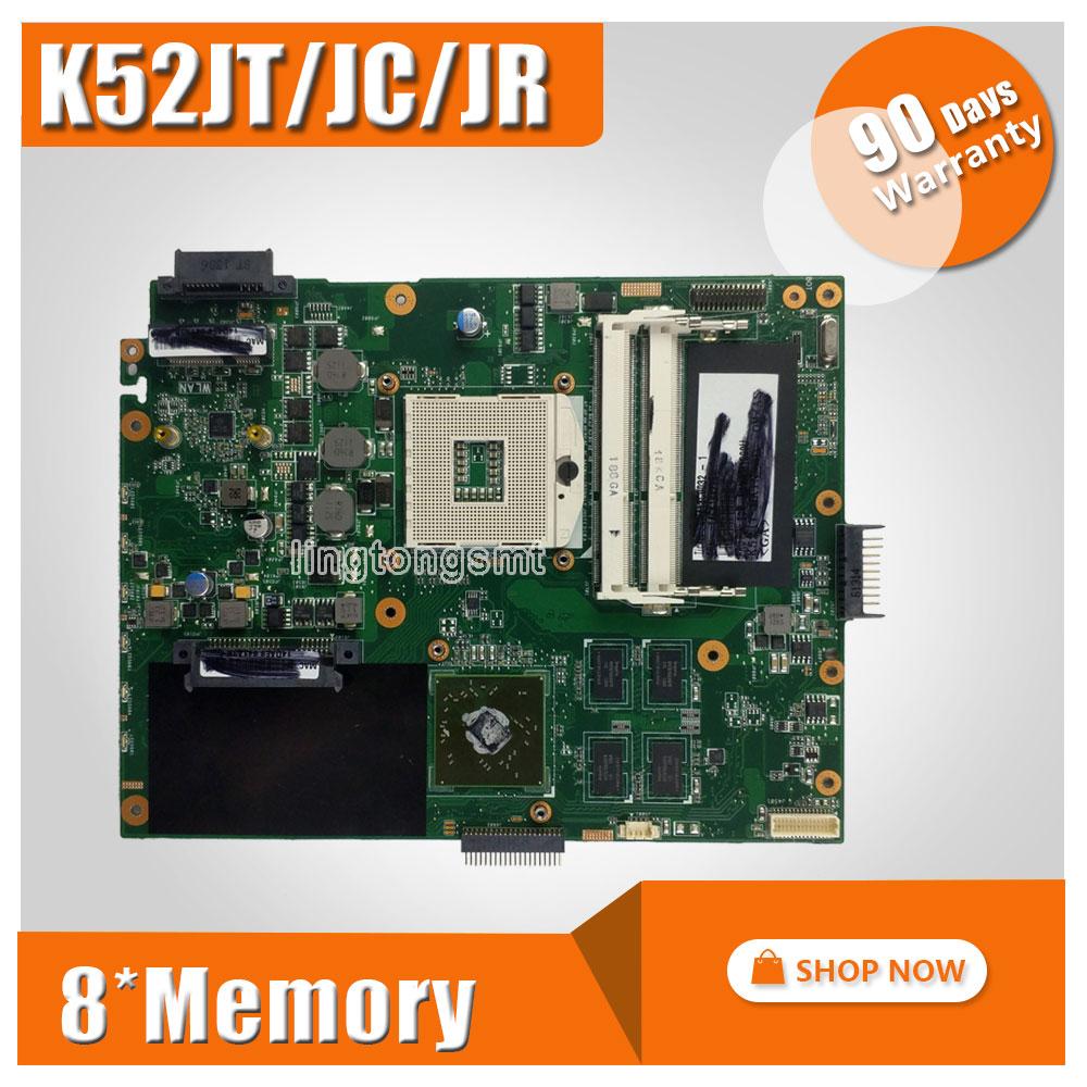 For ASUS K52JC Laptop Motherboard Mainboard k52jr k52j a52j K52jc A52J K52JT 1GB 8 memory DDR3 REV2.0 100% tested top quality for hp laptop mainboard envy4 envy6 686089 001 laptop motherboard 100% tested 60 days warranty