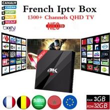 Français IPTV H96Pro + Belgique Algérie Pays-Bas Arabe Europe IPTV S912 Octa Core 3G RAM 32G GB ROM Android 6.0 TV Set Top boîte