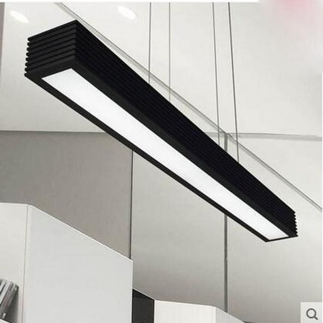 Restaurant LED lighting minimalist modern Nordic art lighting fixture rectangular creative bar lamps office study chandelier