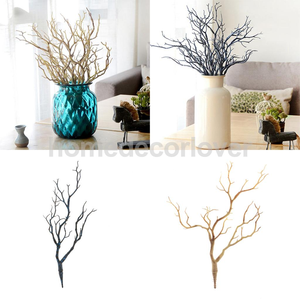 35cm Simulation Plastic Dried Tree Flower Branch Twig for Home ...