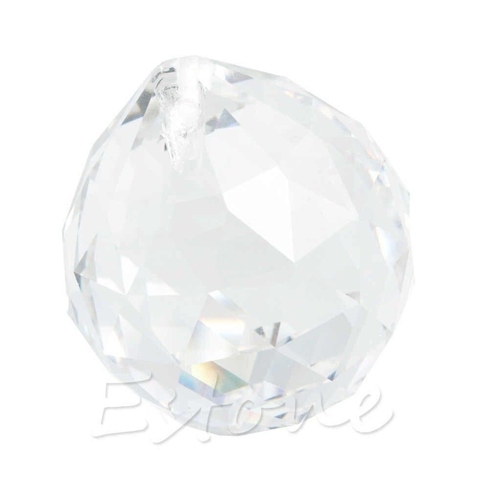 1 claro cristal Feng Shui lámpara Prisma de bola Sun Catcher Arco Iris decoración de la boda 40mm L15