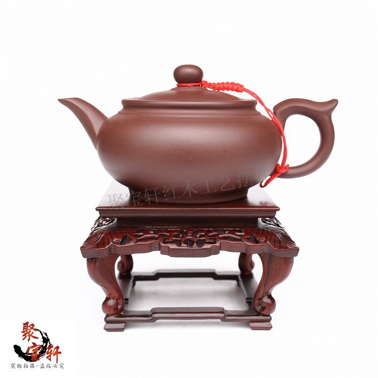 цены Red mahogany base acid branch wood carving handicraft furnishing articles stone vases of Buddha flowerpot household act the role