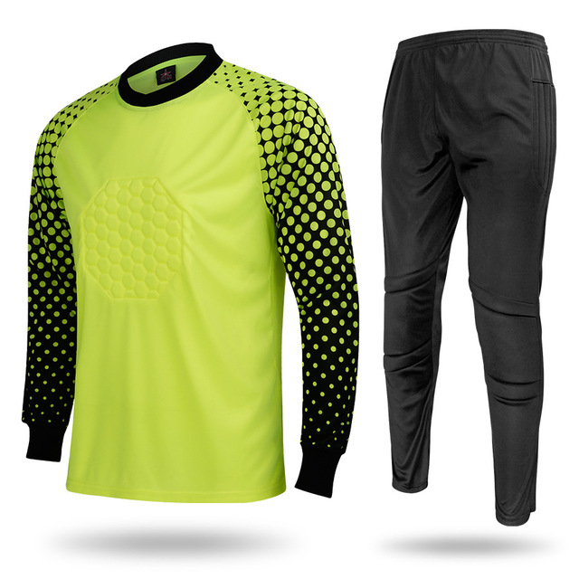 eb6c59b08da Goalkeeper suit Long-sleeved Soccer jersey & Soccer pants goaltender  Football training suit Goalkeeper Tracksuit Sportswear