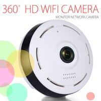 HD 360 градусов панорамный Широкий формат Мини Cctv Камера умная ip-камера Беспроводной рыбий глаз IP Камера P2P 960 P HD Home Security Wi-Fi Камера