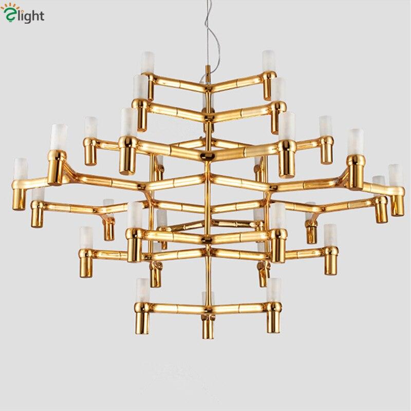 30 luz Nemo Coroa Grande Led Chrome Pingente Lustre Nordic Minimalismo G9 Iluminação Lustre de Vidro Fosco Vela Ouro