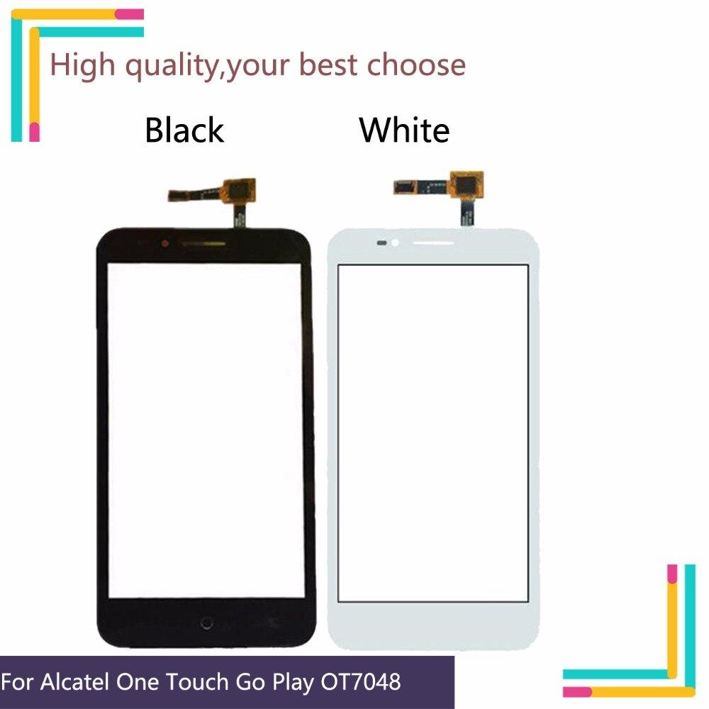 10 шт./лот для Alcatel One Touch Go Play OT 7048X 7048 OT7048X OT7048 сенсорная панель сенсорного экрана дигитайзер передний стеклянный сенсорный экран