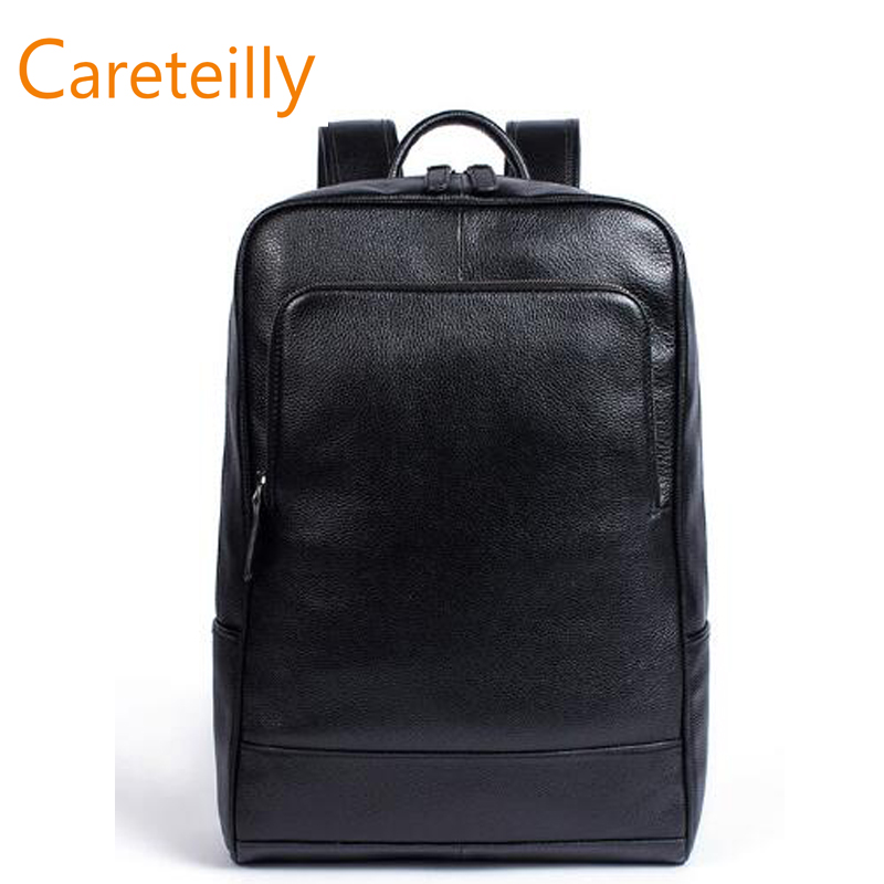 Leather Backpack Casual Travel Bag Bookbag Rucksack Daypack Schoolbag цена