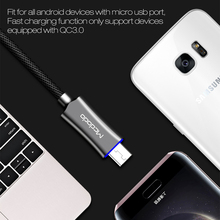 Mcdodo Micro USB Cable Auto Disconnect USB Data Cable LED