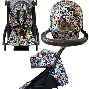 Image 3 - Капюшон и матрас для коляски 175 Yoya Baby Throne Oxford тканевая задняя часть с сетчатыми карманами Yoya аксессуары для коляски Подушка для Yoyo