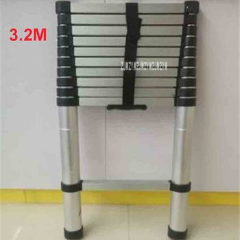 New DLT-A Portable Safety Extension Ladder Thick Aluminum Alloy Single-sided Straight Ladder Household 3.2 Meters 11-Step Ladder