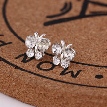 Women Exquisite Small Stud Earrings Crystal Simlated Pearl Earring For Fashion Jewelry pendientes Oorbellen Brincos