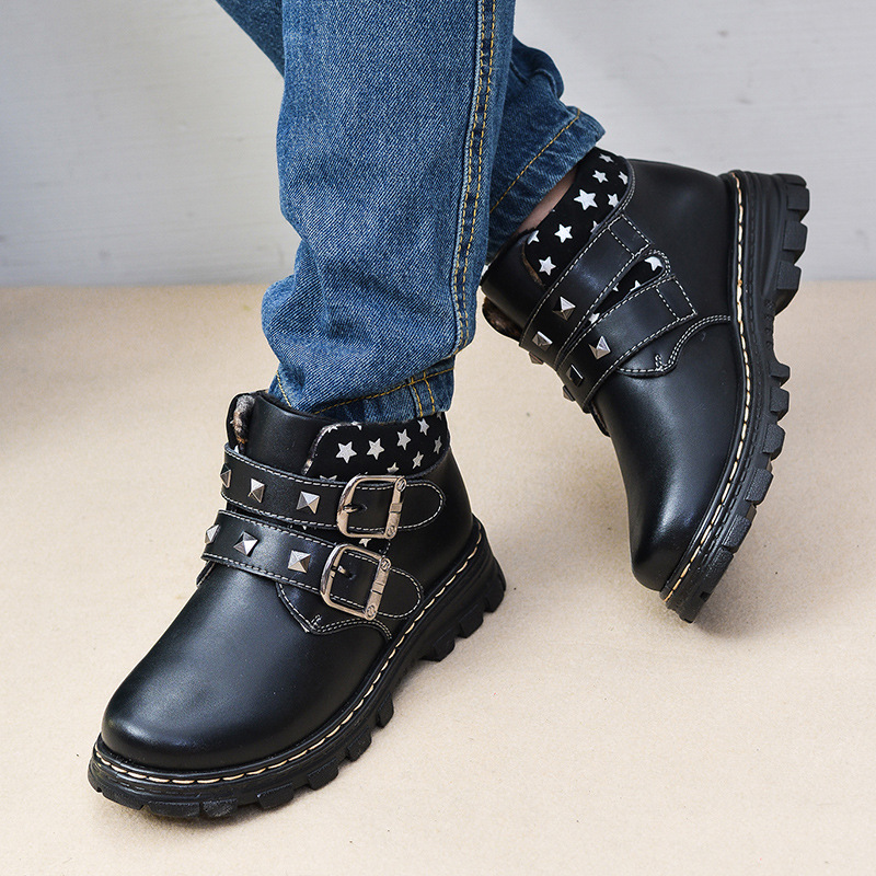 Boys Girls Ankle Boots Fur Winter 2017 Children Shoes Genuine Leather Kids Baby Boots infant warm for Girls Booties Snow Boots babyfeet new winter warm boots newborn baby boys girls cute shoes infant toddler soft sole anti slip snow booties size3 5 11