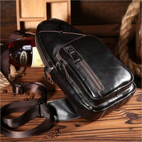 Free Shipping Men S Leather Casual Travel Belt Hip Bum Fanny Pack Waist Chest Sling Bag