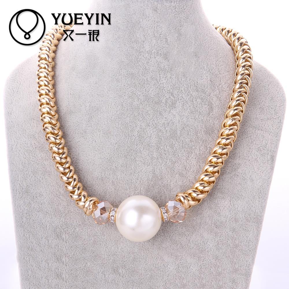 MCN035 2015 factory cheap price trendy charm pendant pearl necklace