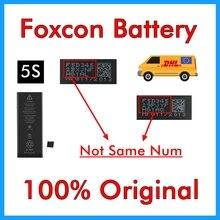 BMT מקורי 10 יח\חבילה פוקסקון סוללה עבור iPhone 5S 0 מחזור 1560mAh אמיתי 0 מחזור פנימי החלפת חלקי 2013