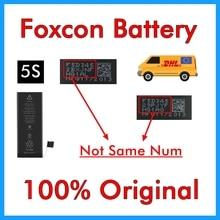 BMT oryginalny 10 sztuk/partia Foxcon baterii dla iPhone 5S 0 cykl 1560mAh oryginalne 0 cyklu wymiana części wewnętrznych w 2013